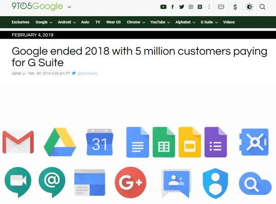 رشد مشتریان GSuite