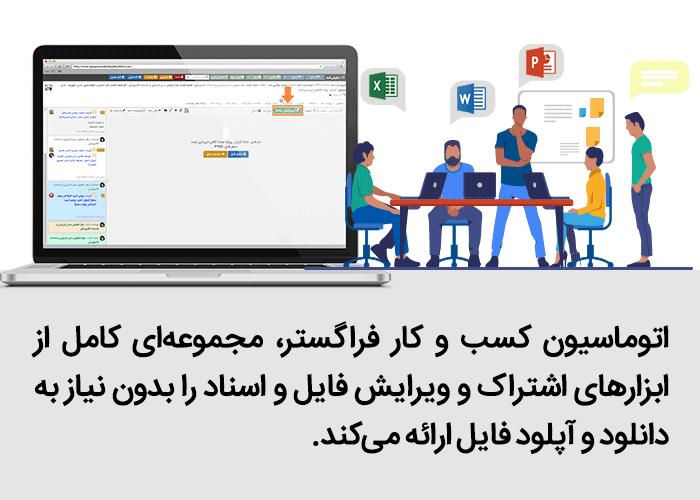 امکان کار کردن تیمی و همکاری مشترک روی اسناد و پروژهها